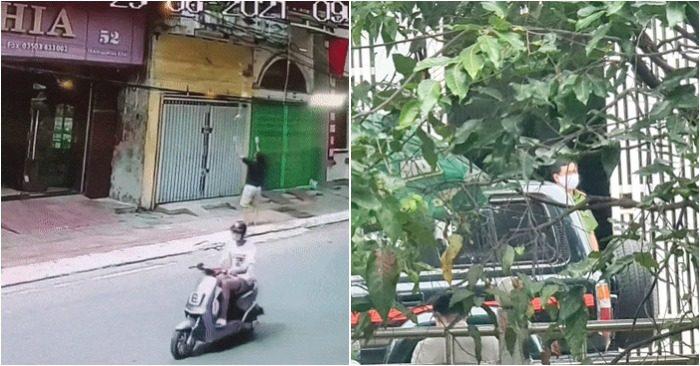 Từ trái qua: Anh Hà cứu bé gái ngã từ tầng 2 (ảnh cắt từ video); Cảnh sát khám nhà một lãnh đạo tỉnh Bình Dương